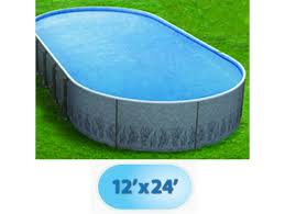 12 x 24 oval radiant metric series insulated wall above ground pool rad poo 1224 by