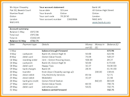 Personal Income Statement Template Excel Best Financial