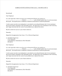 Sample Termination Letter Layoff Termination Letter For