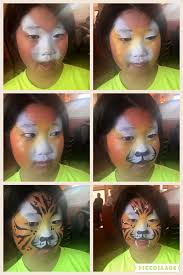 my easy tiger face paint step by step stepbystepfacepainting