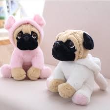 20CM Stuffed <b>Simulation Dogs Plush</b> Sharpei Pug <b>Lovely Puppy Pet</b> ...