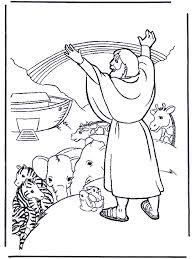 Noach En De Regenboog Bijbel Kleurplaten Oude Testament