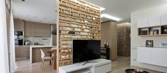 modern furniture small apartments. Plywood Accent Wall Opens Up This Small Apartment In Ukraine Modern Furniture Apartments R