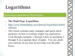 math logarithms questions and answers logarithmic equation worksheet equations matching mathworksheets4kids