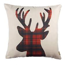 plaid throw pillows. Fine Throw Fjfz Cotton Linen Home Decorative Throw Pillow Case Cushion Cover For Sofa  Couch Christmas Winter Deer On Plaid Pillows D