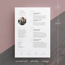 Indesign Creating A Modern Resume Abby Resume Cv Template Word Photoshop Indesign Professional Resume Design Cover Letter Instant Download