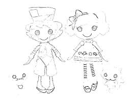 Lala Loopsy Coloring Pages Pillow Sheet Party Dolls Lalaloopsy