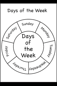 07c064b0cee533de51f0e0307e27192a days of the week printable worksheets pinterest on, hands and as on two week behavior printable