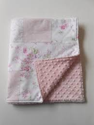 167 best Quilt Shabby Chic images on Pinterest | Baby blankets ... & Minky Baby Girl Patchwork Quilt Blanket Shabby Chic Wildflowers Rose Garden  Pink Rachel Ashwell-- Adamdwight.com