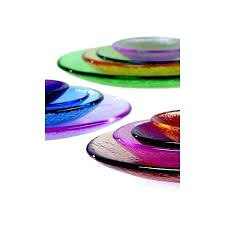 colored glass plates dinnerware recycled green transpa dinner colored glass plates