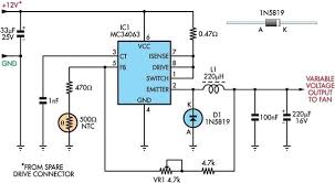 thermistor wiring diagram wirdig efficient fan speed controller circuit schematic