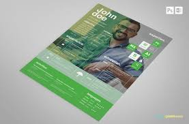 Free Creative Resume Template In Green More At Designresources Io