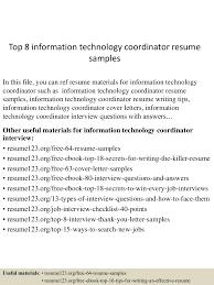 Smartness Inspiration Information Technology Resume Examples 10 Sevte
