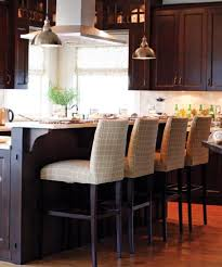 cream colored bar stools. interesting colored brown kitchen cabinets on cream colored bar stools