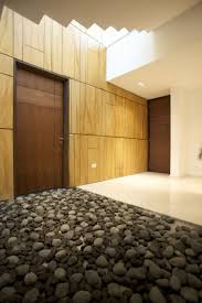Small Picture Decoration Technique Gravel Stones With Two Wooden Doors And White