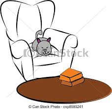 comfy chair drawing. Perfect Drawing Cat Sleeping In Comfy Chair Front Of Carpet Sketch In Comfy Chair Drawing O
