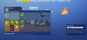 Fortnite Season 4 Level Chart Welcome To Season 3 Battle Pass Breakdown