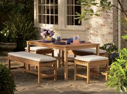 garden dining table with benches. oxford garden furniture \u0026 accessories. backless bench dining set on patio traditional-patio table with benches o