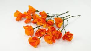 Flower Making With Crepe Paper Step By Step Diy Crafts Duplex Crepe Paper Flowers Orange Poppy Flower Craft
