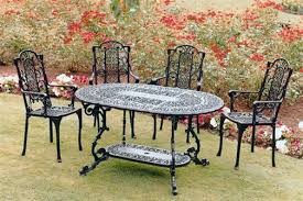 vintage wrought iron table. Vintage Wrought Iron Patio Furniture For A Shabby Chic Look Table
