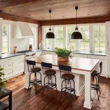 farm kitchen design.  Farm Farmhouse Kitchen Designs  Example Of A Country Lshaped Dark Wood Floor  And Brown On Farm Kitchen Design