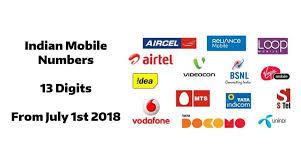 Image result for 13 digit mobile number india