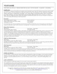 job description of a nanny for resume resume examples 2017