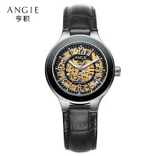 online buy whole engraved watch case from engraved watch angie hollow engraving skeleton casual designer case gear bezel watches men luxury brand automatic mechanical wristwatches