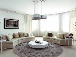 Round Rugs For Living Room Charming Minimalism Apartment Design In Multifunctional Complex