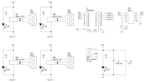 4 channel large current relay board schematic electronics lab current sensing relay schematic symbol 4 channel large current relay board schematic