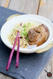 noodles with slow cooked pork hocks