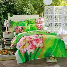 beauty flower erfly oil painting bed duvet cover set flat sheet pillow cases cotton queen 4 comforter bedding sets home textile duvet cover set queen