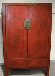 red lacquered furniture. Antique Asian Furniture: Red Lacquered Cabinet Armoire From Shanxi Province, China Furniture X