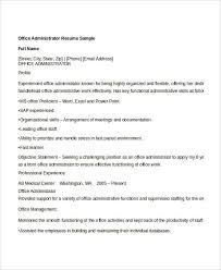 Office Administration Resume Samples 25 Administration Resume Templates Pdf Doc Free Premium
