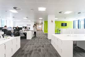 Open plan office design birmingham Pinterest Openplan Wokrplace Officelovin Inside Rethink Groups New Birmingham Office Officelovin