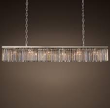 rhys clear glass prism rectangular chandelier 71 美国 价格 图片 掌案