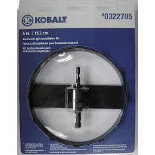 kobalt 6 3 8 in carbide grit arbored recessed lighting hole saw