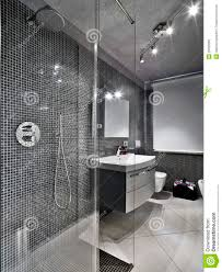 Modern Cubicle Modern Bathroom With Glass Shower Cubicle Stock Photography