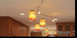 Recessed And Track Lighting Plus Kitchen Pendant