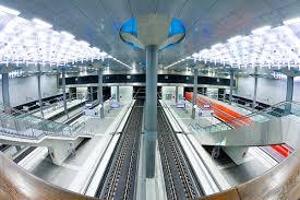 Modern Train Station Design Europe Germany Berlin Train Pulling Into The New Modern