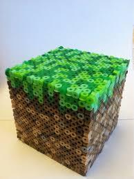 17 best images about perler beads perler bead 3d minecraft grass block made out of perler beads