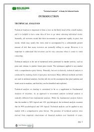 Stock Chart Analysis Tools Technical Analysis A Study On Selected Stocks