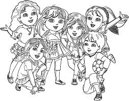 Small Picture Dora Painting Coloring Coloring Pages
