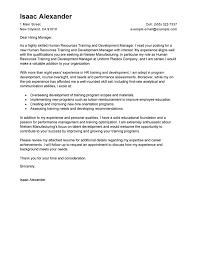best training and development cover letter examples livecareer best cover letter samples
