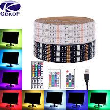 SMD5050 RGB <b>USB</b> LED Strip Light Waterproof <b>5m</b> flexible <b>DC 5V</b> ...