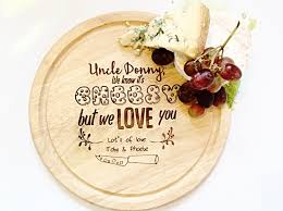 Personalised Chopping Board Personalised Cheese Board Gift For Him