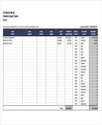 Sales Lead Tracker Template Under Fontanacountryinn Com