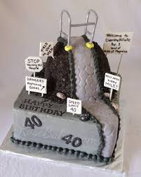 over the hill walker 40th birthday cake