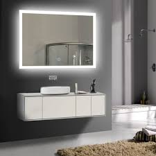 36 x 28 in horizontal led bathroom mirror touch on dk od