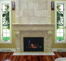 interior white tile fireplace with white tile hearth and mantel shelf also black metal firebox